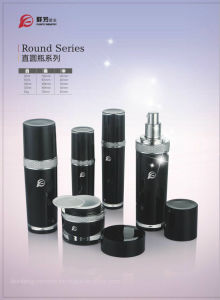 Qf-016 Modern Design Plastic Acrylic Round Series Bottle pictures & photos