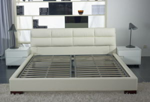 Modern Leather Bed of Bedroom Furniture (9209) pictures & photos