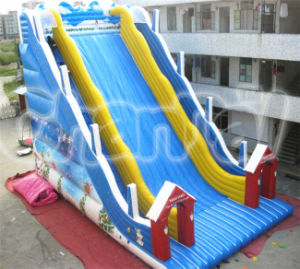 PVC Christmas Inflatable Giant Double Lane Bouncy Slide for Adults and Kids pictures & photos