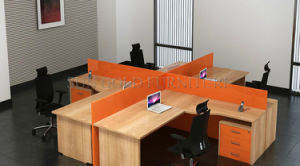 2017 Newest Orange Office Crossing Workstation for 4 People (SZ-WS263) pictures & photos