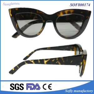New Style Fashion Fox Eye Sunglasses for Ladies pictures & photos