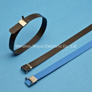Coated Stainless Steel Cable Ties, Straps -L Type 16X300mm pictures & photos