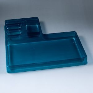 Color Plastic Cosmetic Packaging Trays Blister Inside Liner Packing Tray for Cosmetic Bottle
