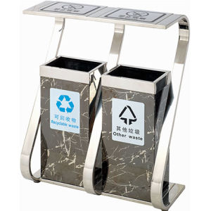 Classifed Two Dustbin for Hotel (YH-153B) pictures & photos