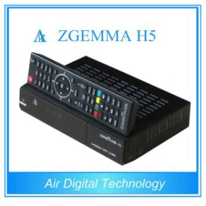 Hevc/H. 265 DVB-S2+T2/C Hybrid Twin Tuners Powerful CPU Zgemma H5 Dual Core Linux FTA Satellite Receiver pictures & photos