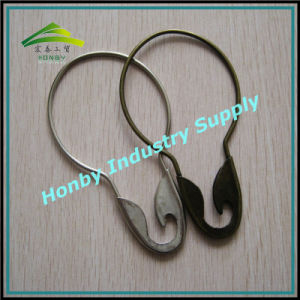 125mm Silver and Anti-Brass Color Pear Shape Metal Curtain Hook Pins (P160725B) pictures & photos
