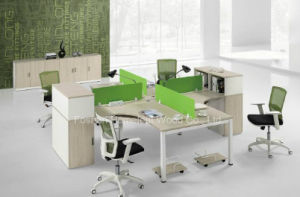 High Class Fashion Color Style Workstation with Side Cabinet (HF-CA004) pictures & photos
