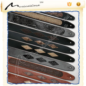Custom Best Leather Guitar Straps with Button pictures & photos