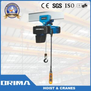 1ton Dual Speed Electric Chain Hoists with Monorail Trolley pictures & photos