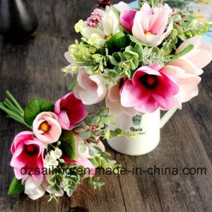 Decoration Artificial Flower of Magnolia Bouquet (SF15676) pictures & photos