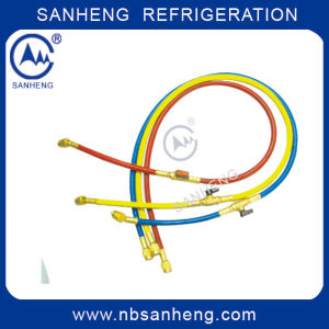 Copper Filling Charging Hose with Ball Valve Three Colors pictures & photos