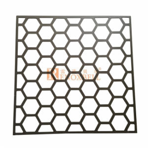 Perforated Aluminum Sheet with Regular Hexagon Holes for Wall Decoration pictures & photos
