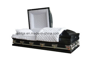 Neo Blue Shaded Black Finish Casket (Oversize) pictures & photos