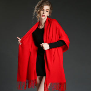 Fashion Accessories Light Red Cashmere Wrap Lady Scarf Shawl pictures & photos