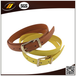 Women Pin Buckle Leather Embossed Belt (HJ0343) pictures & photos