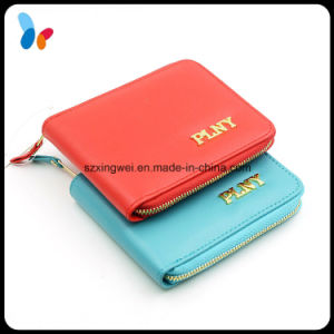 Custom Card Holder PU Leather Women Wallet Factory pictures & photos