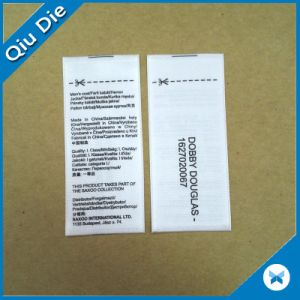 Customized Brand Center Fold Washing Care Labels pictures & photos