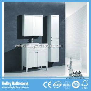 New Design Bathroom Cabinets with Clear Glass Side Cabinet Set (BV216W) pictures & photos