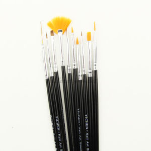 Nail UV Gel Painting Brush Set Beauty Tools 10PCS (B007)