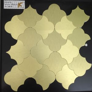 Gold Color Metal Direct Post on Wall Mosaic Tile 300X300mm pictures & photos