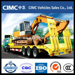 70 T Low Bed Semi Trailer for Bulldozer pictures & photos