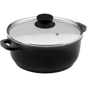 Home Basic Black Nonstick Ceramic Coated Aluminum Saucepot Induction Bottom pictures & photos