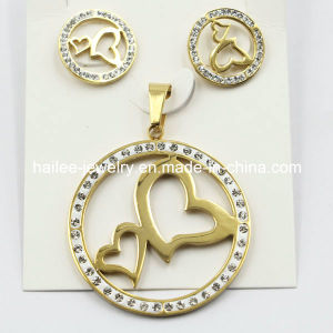 Trendy Fashion Stainless Steel Earring & Pendant Jewelry Set pictures & photos