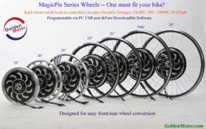 Magic Pie 5 Programmable Sine Wave Controller Electric Bike Hub Motor Conversion Kit with Ce Approval pictures & photos
