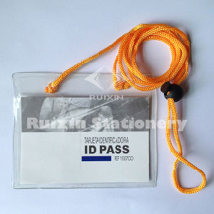 Factory Outlets ID Card Holder, PVC Name Badge,