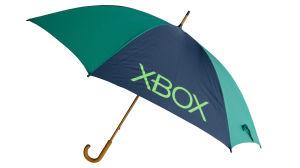 Manual Open 14mm Wooden Shaft Promotional Golf Umbrella (75G218)