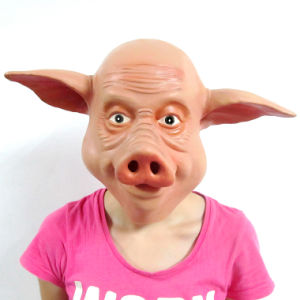 Lovely Pig Latex Halloween Cardinal Mask Animal Head Party Mask pictures & photos