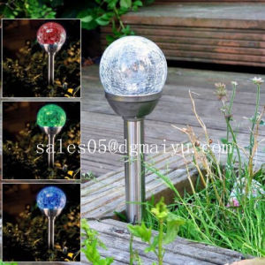 Outdoor Landscape Pond Garden LED Lights Color Changing Solar Glass Ball Fixture pictures & photos