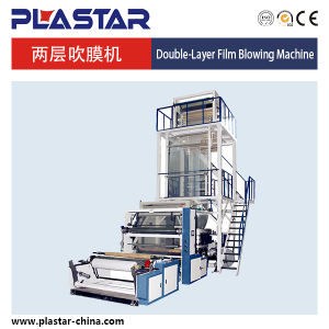 Double-Layer Co-Extrusion Rotary Die Film Blowing Machine Sg-2L1000 pictures & photos