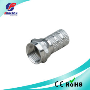 F Cable Connector RG6 Rg59 Rg58 Zinc pH5388-1 pictures & photos