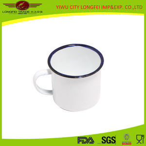 White Color Inside and out Side Enamel Mug pictures & photos