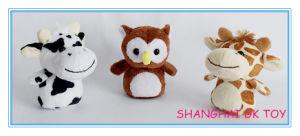 Mini Owl Giraffe Cow Plush Toy Set pictures & photos