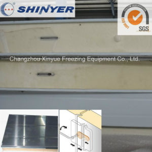 200mm Polyurethane PU Sandwich Panel with 0.4mm Stainless Steel Plate pictures & photos