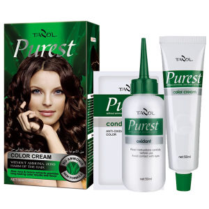 Purest Free Ammonia House Use Hair Color Cream Dark Brown pictures & photos