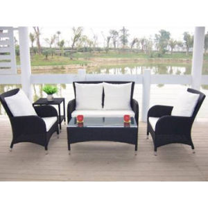 5 Pieces Deep Rattan Seating Group with Cushion (WS-06036) pictures & photos