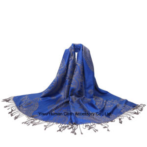Hot Selling Multi-Colors Fashion Jacquard Scarf Shawl pictures & photos