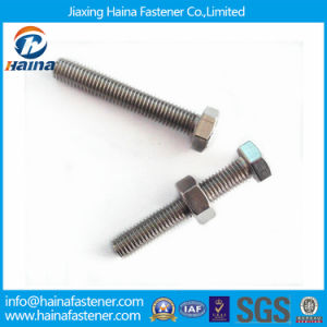 Jiaxing Haina M12 Stainless Steel 316 Asme Hex Cap Screw pictures & photos