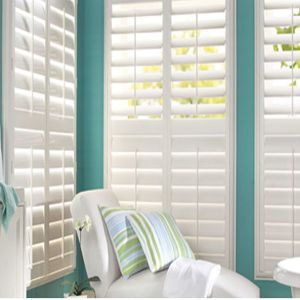 Reinforced Louver Components Interior PVC Plantation Shutter Window (TS-1122) pictures & photos