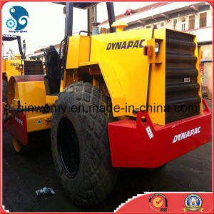 Used Single-Drum-Vibration-Compactor Dynapac Open-Cabin Road Roller with-New-Steel-Wire-Tyres (CA25D/15ton) pictures & photos