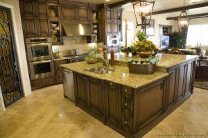 Kitchen Furniture Dark Walnut Kitchen Cabinets (dw1) pictures & photos