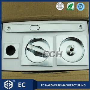 Chrome Square Combination Sliding Door Lock with Finger Hole (OSL81) pictures & photos