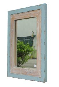 2017 New Items Ecorative Vintage Style Wood Wall Mirror (LH-W17035) pictures & photos