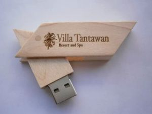 New 2GB 4GB 8 GB Walnut Maple Swivel Wood USB Drive Flash Memory Laser Marking Logo pictures & photos