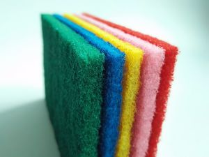 Colorful Nylon Poylester BBQ Abrasive Cleaning Scouring Pad pictures & photos