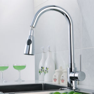 Pull out Faucet Chrome Silver Swivel Kitchen Sink Mixer Tap pictures & photos