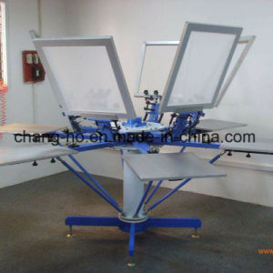 6 Color Garment Screen Printing Press pictures & photos